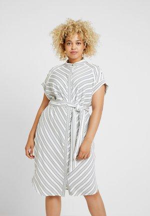 VICA SHORT SLEEVE CASUAL DRESS - Shirt dress - white/polo black