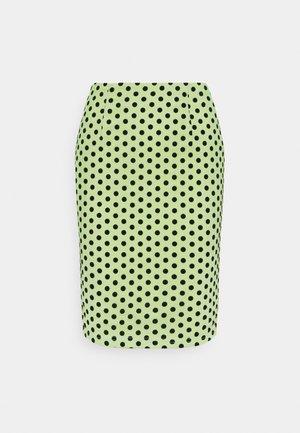 FLOCKED SPOT MIDI SKIRT - Pencil skirt - mint