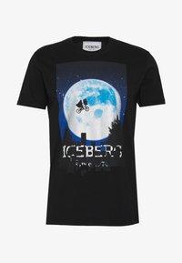 Iceberg - T-shirt con stampa - black - 5