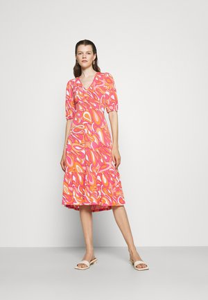 TIE BACK MIDI DRESS - Jersey dress - white