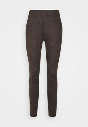 Leather trousers - chocolate