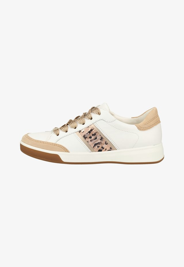 Trainers - camel/white/platinum/powder