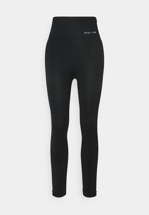 HIGH WAIST SEAMLESS LEGGINGS - Leggings - black