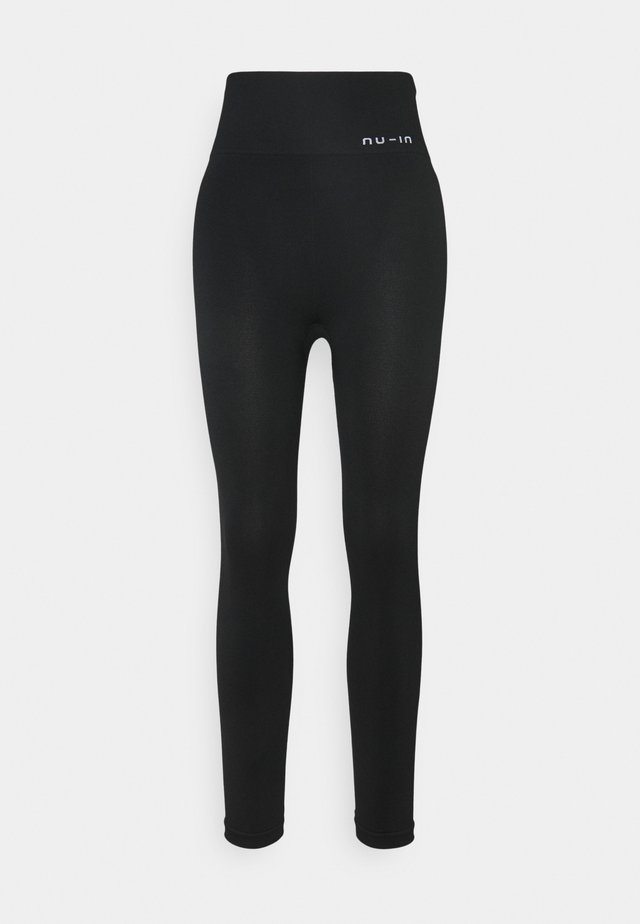 HIGH WAIST SEAMLESS LEGGINGS - Collants - black