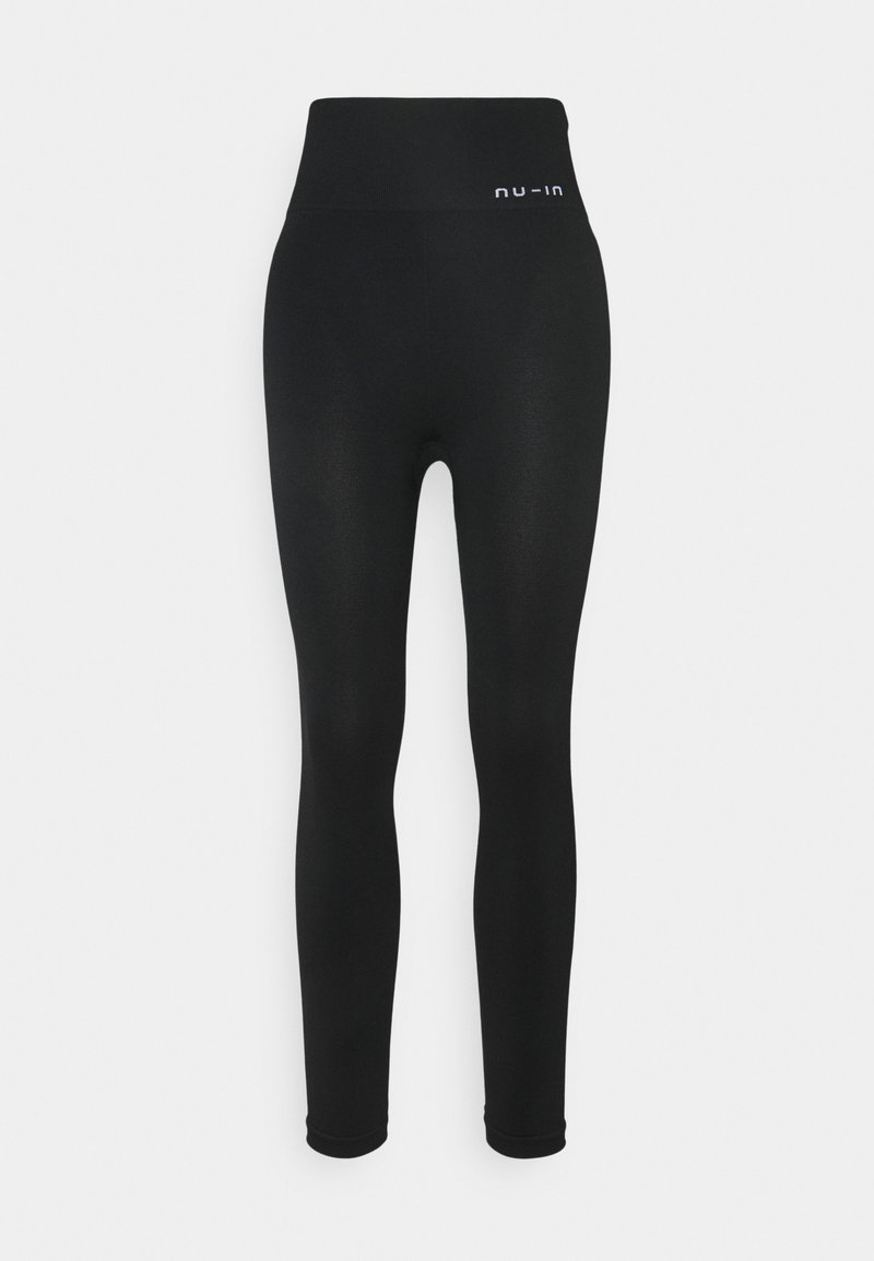NU-IN - HIGH WAIST SEAMLESS LEGGINGS - Leggings - black