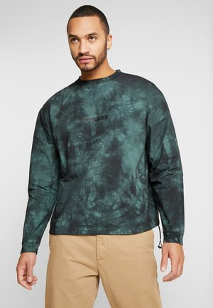 TIE DYE WITH BRANDING - Sudadera - green