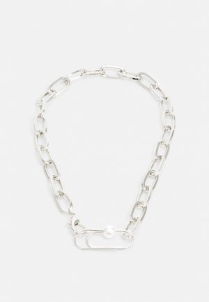 WIDE LINK CHAIN UNISEX - Necklace - silver-coloured