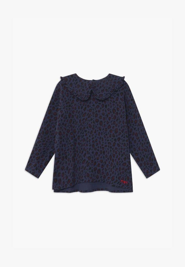 ANIMAL PRINT - Blouse - light navy/dark brown