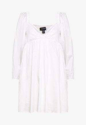THE DRAMATIC SLEEVE MINI DRESS - Korte jurk - white