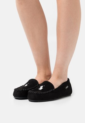 DEZIV - Pantofole - black/cream