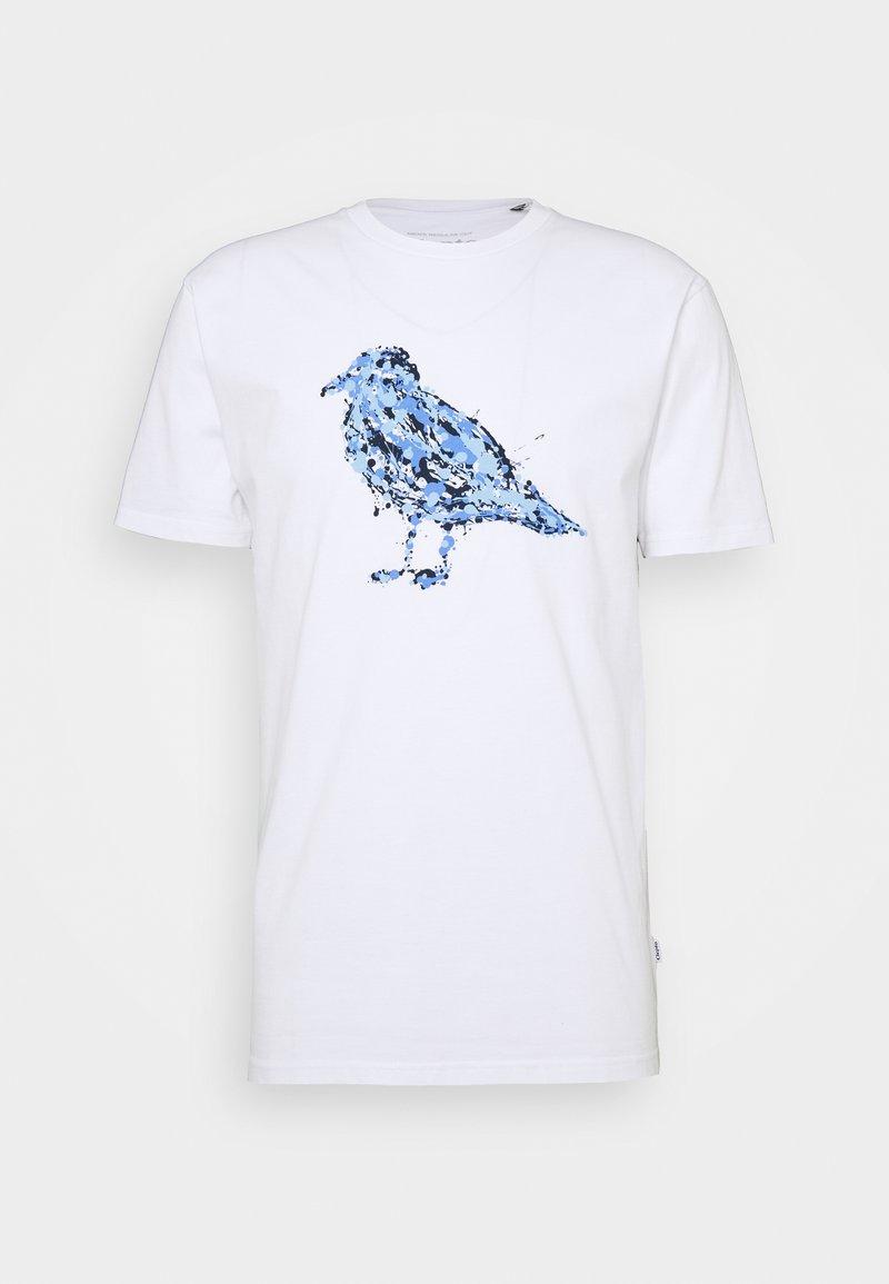 Cleptomanicx - JACK GULLOCK - T-shirt z nadrukiem - white