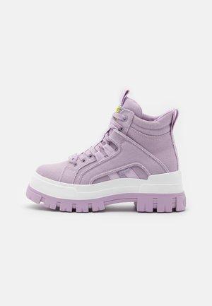 VEGAN ASPHA MID - Platform ankle boots - purple