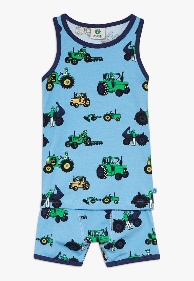 UNDERWEAR BOY OLD TRACTOR SET - Set intimo - sky blue