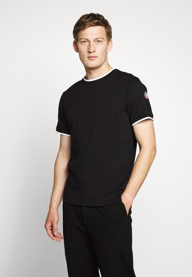 ADAM - Print T-shirt - noir