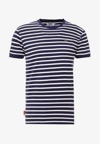 Le Fix - STRIPE TEE - T-shirt imprimé - navy / white - 3