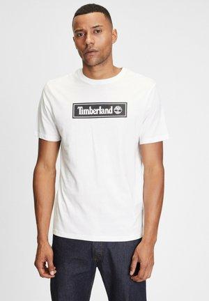 LINEAR LOGO  - T-shirt print - white