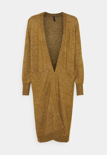 YASCALI LONG CARDIGAN - Kofta - bronze brown