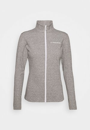 FLORA MID LAYER - Fleece jacket - stone grey melange