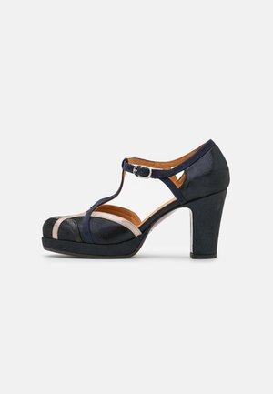 JU-KOREA - Zapatos de plataforma - lame navy/dali iron