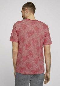 TOM TAILOR - Print T-shirt - plain red white stripe - 2