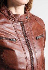 Oakwood - Leather jacket - tobacco - 3