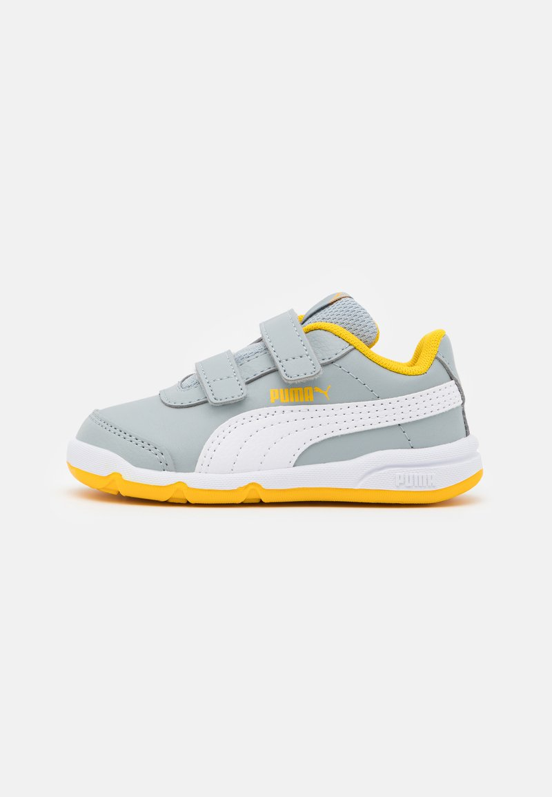 Puma - STEPFLEEX 2 UNISEX - Sports shoes - quarry/white/spectra yellow