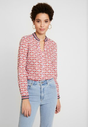 Button-down blouse - red/white