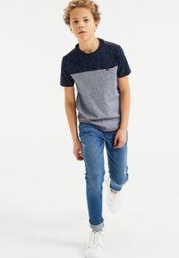 WE Fashion - T-shirt print - dark blue - 0