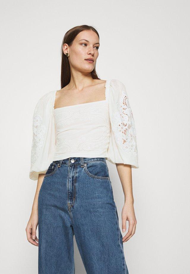 BLOUSE - T-shirt à manches longues - off-white