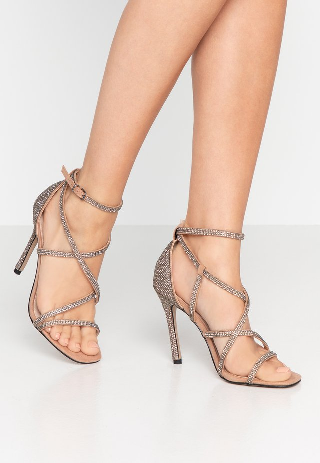 GINGER - High heeled sandals - camel