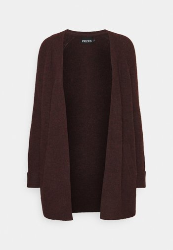 PCELLEN LONG - Cardigan - red mahogany