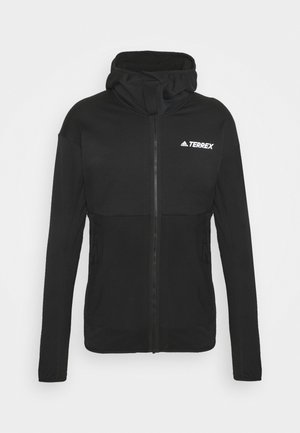 TERREX TECH LITE HOODED HIKING FLEECEJACKE - Fleecejacka - black