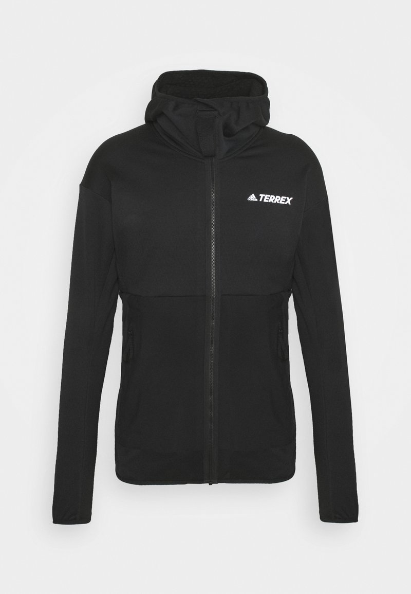 adidas Performance - TERREX TECH LITE HOODED HIKING FLEECEJACKE - Fleecejacka - black