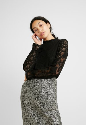 YASLUNA LACE TOP TALL - Bluse - black