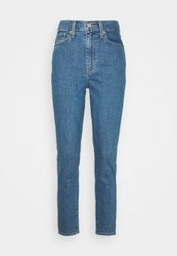 HIGH WAISTED TAPER - Relaxed fit jeans - blue denim