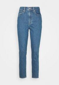 HIGH WAISTED TAPER - Straight leg jeans - blue denim