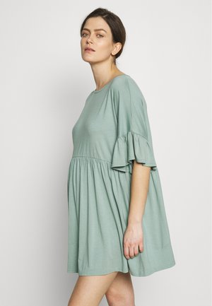 MATERNITY FRILL SLEEVE SMOCK DRESS - Jersey dress - sage