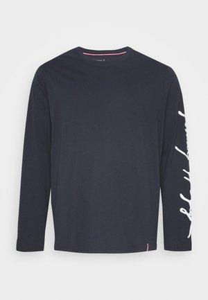 SIGNATURE SLEEVE TEE - Long sleeved top - blue