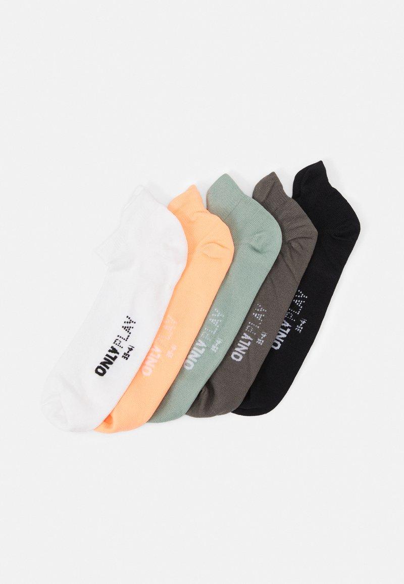 ONLY Play - ONPTRAINING SOCKS 5 PACK - Calcetines de deporte - black/white/lgm/gray mist/neo