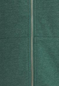 Even&Odd - BASIC - Regular fit hoodie jacket with pockets - Zip-up hoodie - mottled teal - 2