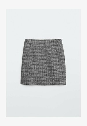 HAHNENTRITTMUSTER  - Mini skirt - black