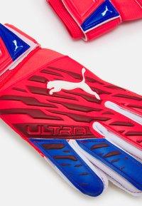 Puma - ULTRA GRIP JUNIOR UNISEX - Goalkeeping gloves - sunblaze white/bluemazing - 3