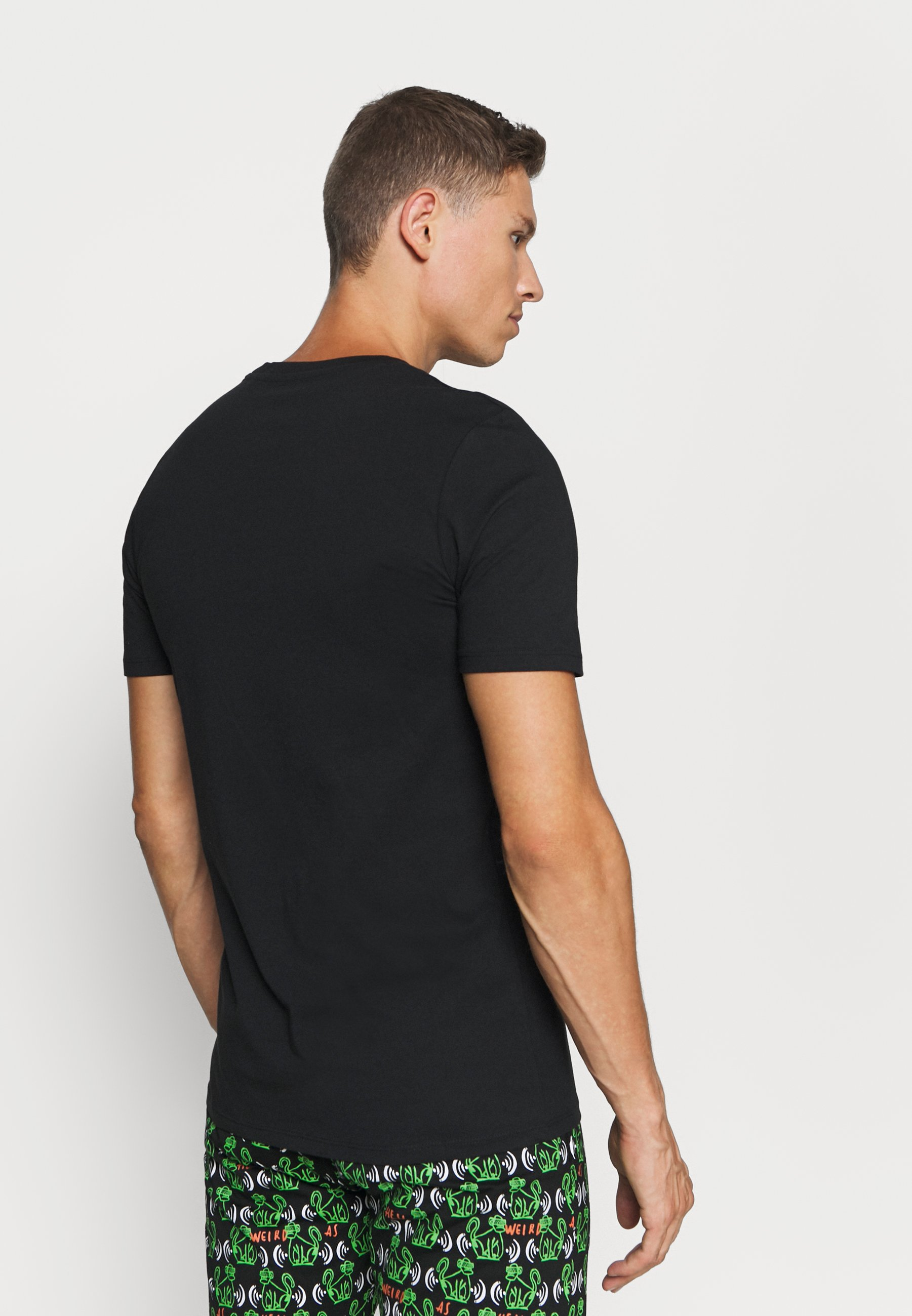 Jack & Jones Jacbasic Tee Crew Neck 4 Pack - Koszulka Do Spania Black