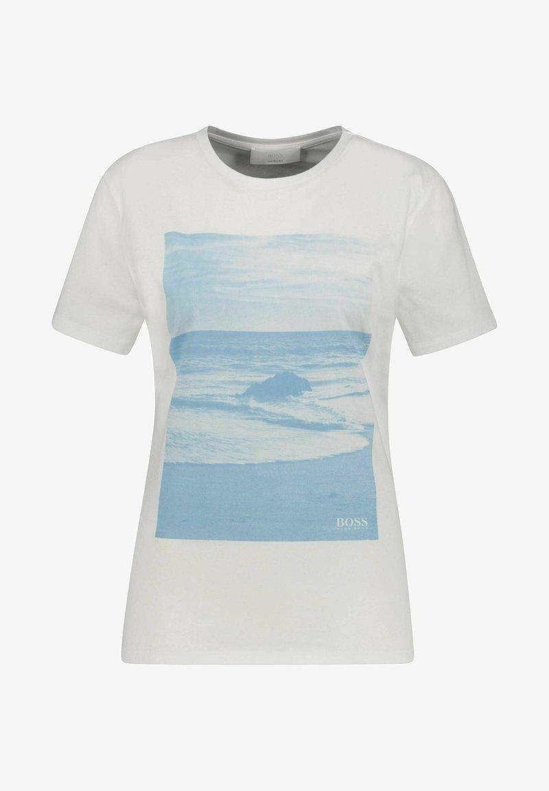 BOSS - C_EIMA - Print T-shirt - sand