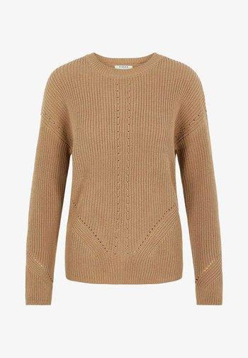 PCKARIE O NECK - Pullover - brown