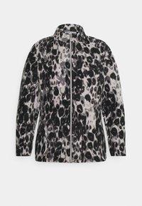 CAPSULE by Simply Be - LEOPARD PRINT JACKET - Fleece jumper - grey - 0