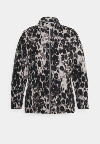 LEOPARD PRINT JACKET - Fleece jumper - grey