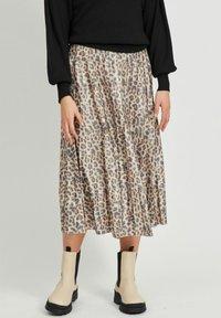 Vila - Pleated skirt - motld beige - 0
