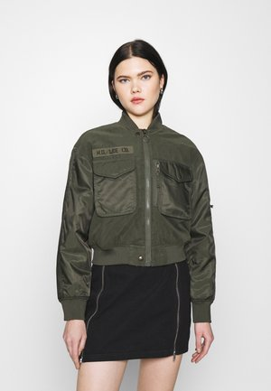 SATEEN  - Bomber Jacket - olive green