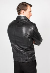 Freaky Nation - HOUSTON CITY - Leather jacket - black - 2